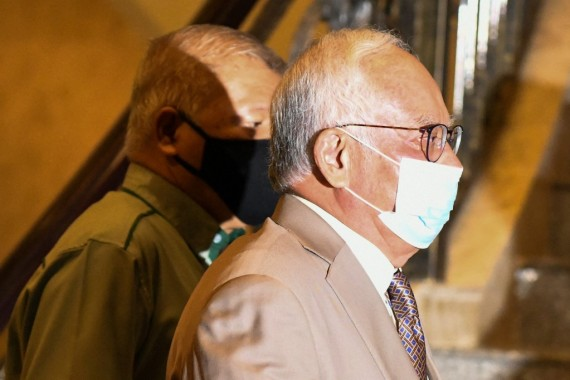 Najib was quick to admit his misdemeanour at the eatery in Kuala Lumpur amid the pandemic [File: Mohd Rasfan/AFP]