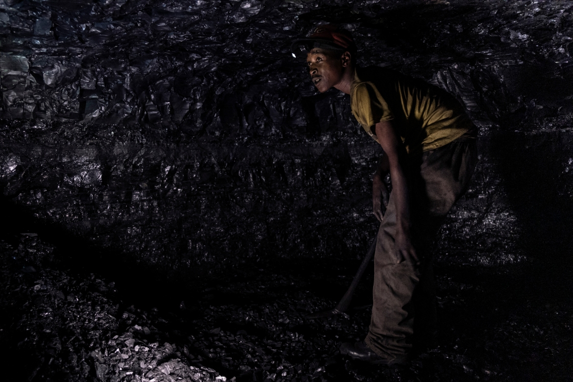 More than 80 percent of South Africa's power is generated by coal, which is also exported to China and Europe. [Emmanuel Croset/AFP]