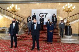 The G7 this week addressed what it perceives as the biggest current threats: China, Russia and the coronavirus pandemic [Niklas Halle'n/AFP]