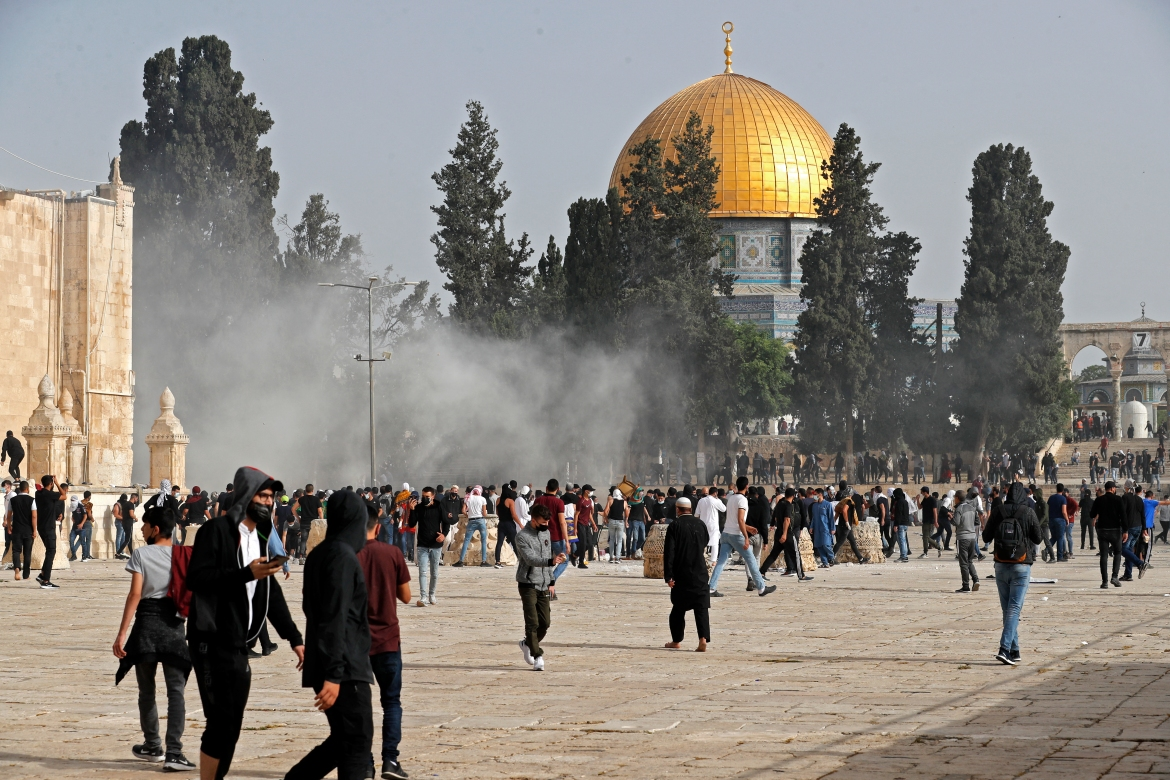 Tensions have escalated in Jerusalem, the occupied West Bank, and Gaza throughout the Muslim holy month of Ramadan. [Ahmad Gharabli/AFP]