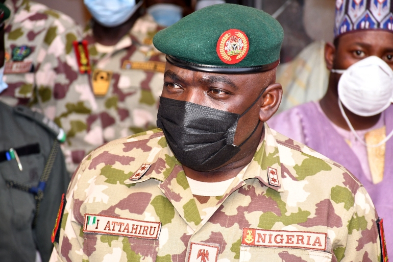 Attahiru was only appointed by President Muhammadu Buhari in January as part of a shake-up of the top military command [Audu Marte/AFP]