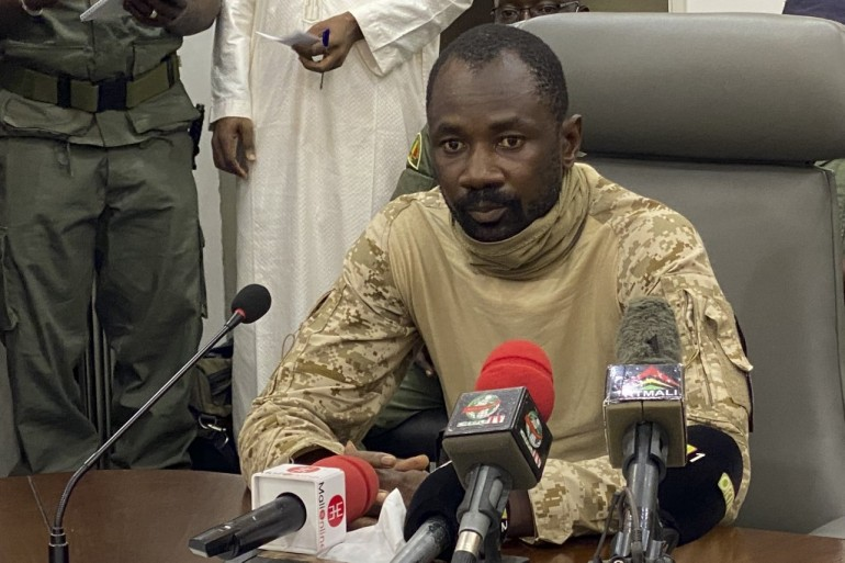 Interim Vice President Colonel Assimi Goita led a coup in Mali in August [File: Malik Konate/AFP]