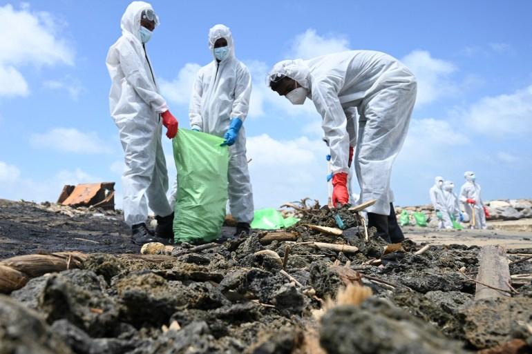 Sri Lanka launches probe after burning ship pollutes beaches | Sri Lanka  News | Al Jazeera
