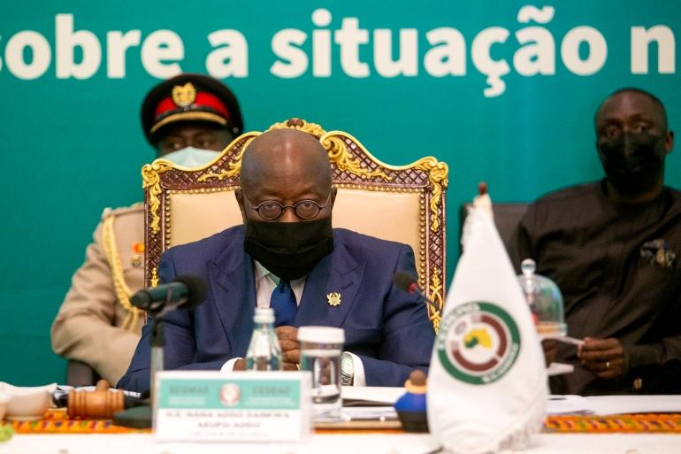 President of Ghana Nana Akufo-Addo chairs the ECOWAS Extraordinary Summit on the situation in Mali [Nipah Dennis/AFP]