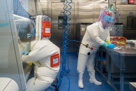 China has accused the US of 'politicising' the investigation into the origins of the coronavirus pandemic after President Joe Biden asked for a review of US intelligence findings [File: Johannes Eisele/AFP]
