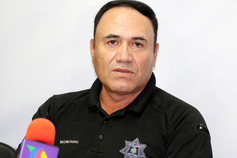 The attack followed another suspected assassination attempt on Joel Ernesto Soto on May 6, when armed men fired at his state police convoy in Mazatlan [File: Jesus Bustamante/Reuters]