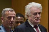 Radovan Karadzic was convicted by a UN court of crimes against humanity, war crimes and genocide [File: Peter Dejong/Reuters]