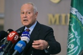 Arab League chief Ahmed Aboul Gheit said the attacks in Gaza were a 'miserable show of force at the expense of children's blood' [File: Ramzi Boudina/Reuters]