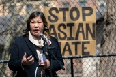 Representative Grace Meng was the lead sponsor of anti-Asian hate crime legislation in the House of Representatives [File: Jeenah Moon/Reuters]