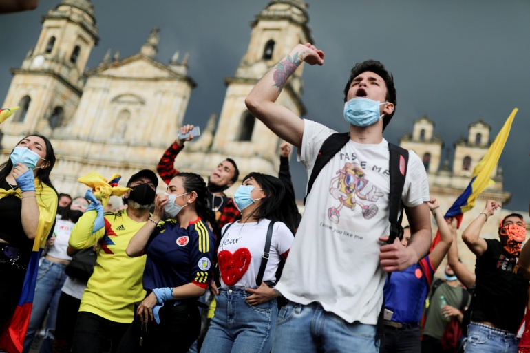 Colombia's president withdrawing tax reforms after mass protests | Protests  News | Al Jazeera
