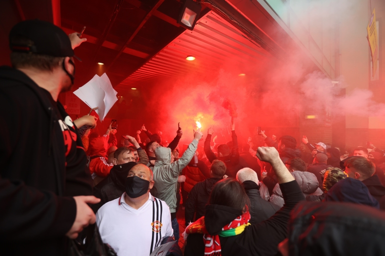 Gerakan antiGlazer telah mendapatkan momentum dalam beberapa minggu terakhir setelah upaya klub yang gagal untuk menjadi bagian dari Liga Super Eropa yang memisahkan diri bulan lalu Carl Recine / Reuters