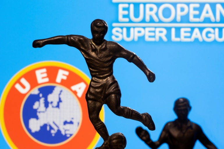 The European Super League project was publicly launched late at night on April 18 then imploded within 48 hours [File: Dado Ruvic/Reuters]