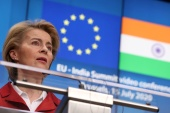 'Between the EU and India there is a close relationship but also a lot of untapped potential,' European Commission President Ursula von der Leyen said [File: Yves Herman/Pool