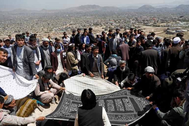 Afghans hold funeral for victims of Kabul school bomb blasts | Asia News |  Al Jazeera