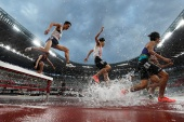 Olympic test events were held in Tokyo during the weekend [Issei Kato/Reuters]