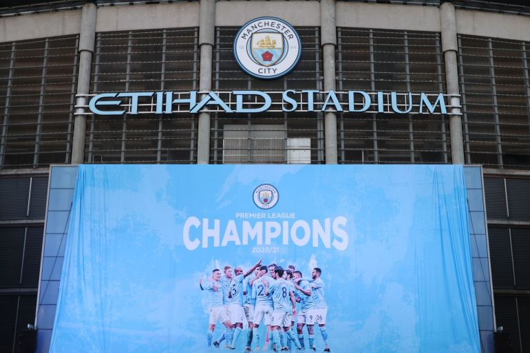 The result leaves Manchester City 10 points clear of United with just three games left for both teams [Molly Darlington/Reuters]