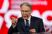 Wayne LaPierre, top executive of the National Rifle Association, has been accused of corruption by the state of New York [File: Joe Skipper/Reuters]