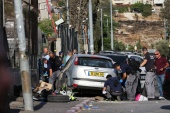 The incident occurred in Sheikh Jarrah, in Israeli-occupied East Jerusalem, which is the focus of a court case in which several Palestinian families could be forcefully expelled from homes claimed by Jewish settlers [Ronen Zvulun]