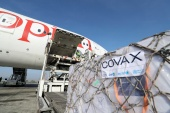 Ethiopian Airlines staff unload AstraZeneca vaccines delivered under the COVAX scheme in March [File: Tiksa Negeri/Reuters]