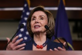 House Speaker Nancy Pelosi, a Democrat, on Tuesday urged heads of state around the world to shun the games [Evelyn Hockstein/Reuters]