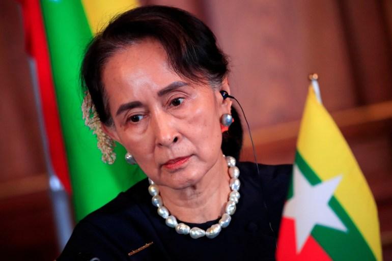 Aung San Suu Kyi termasuk di antara lebih dari 4000 orang yang ditahan sejak kudeta 1 Februari File Reuters