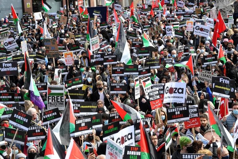 Palestinian solidarity protests held around the world   Human Rights News    Al Jazeera
