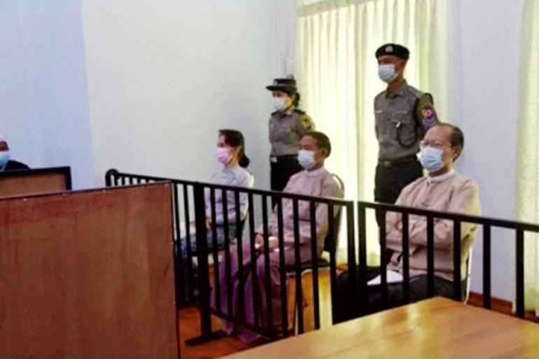 Aung San Suu Kyi in first public appearance since February arrest   Aung San Suu Kyi News   Al Jazeera