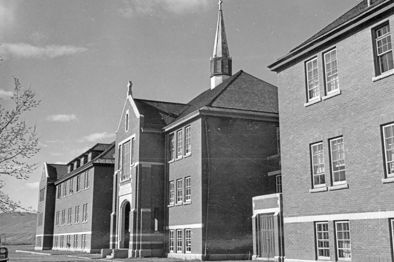 The Kamloops Indian Residential School in British Columbia, closed in 1978, was once Canada's largest school for forcibly separated Indigenous children from their families [Library and Archives Canada/Handout via Reuters]