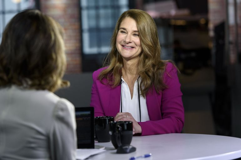 Melinda Gates, 56, serves as co-chair of the Bill and Melinda Gates Foundation and is the founder of Pivotal Ventures, an investment and incubation company that works to advance the interests of American women and families [File: Michael Short/Bloomberg]