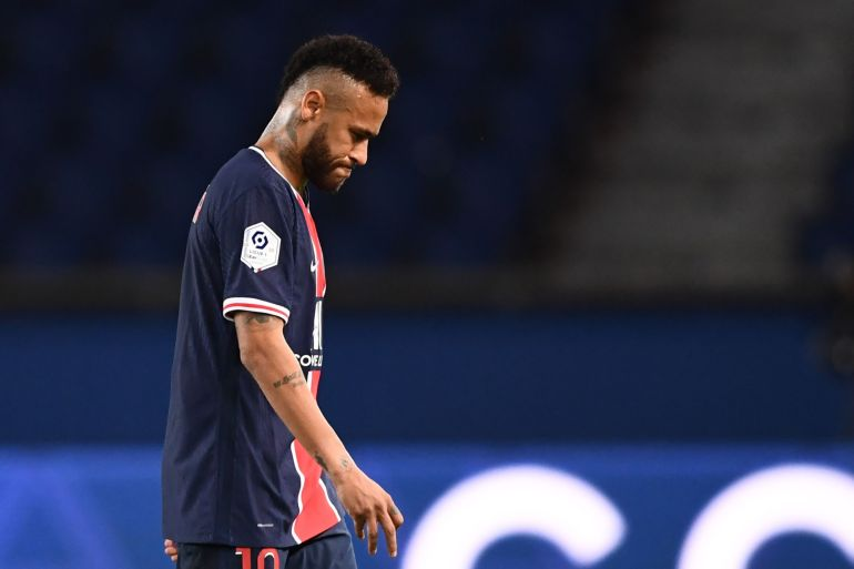 Seorang juru bicara Neymar da Silva Santos Jr mengatakan dia menyangkal tuduhan tersebut dan perpecahan dengan Nike terjadi karena alasan komersial File Franck Fife / AFP / Getty Images