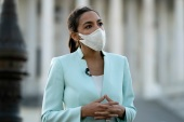 Representative Alexandria Ocasio-Cortez is among a group of progressive legislators who have criticised US policy towards Israel [File: Jose Luis Magana/The Associated Press]