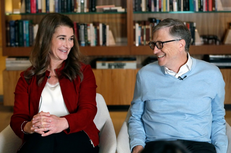 Bill, the billionaire founder of Microsoft, and Melinda, an author and businesswoman, announced their decision to separate after 27 years of marriage in a statement tweeted from their personal accounts [File: Elaine Thompson/AP Photo]