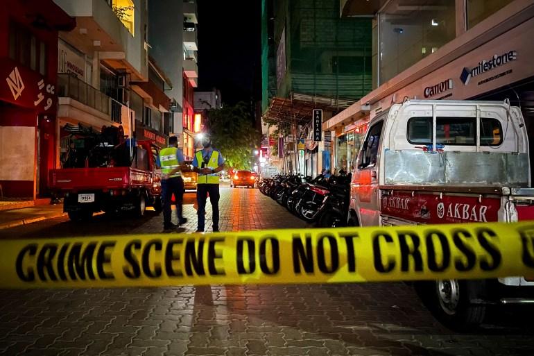 Ledakan terdengar di seluruh Male, kata penduduk Mohamed Sharuhaan / AP Photo