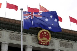 Bilateral ties between Australia and China were strained in 2018 when Australia became the first country to publicly ban Chinese tech giant Huawei from its 5G mobile telecommunications network [File: Jason Lee/Reuters]