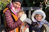 Dawn Morgan Neary, mother of two, quit her job in November due to the demands of looking after her young children [File: courtesy Dawn Morgan Neary]