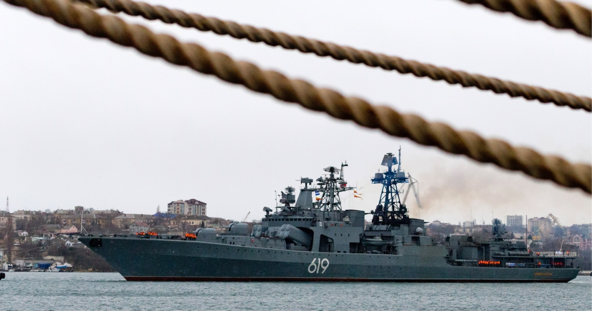 Russia says warship prevented US destroyer entering its waters