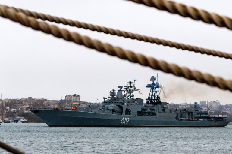 Russia annexed the Black Sea peninsula of Crimea from Ukraine in 2014, drawing sanctions and condemnation from the West [Sergei Malgavko/TASS via Getty Images]