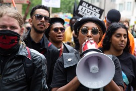 Sasha Johnson, 27, played a leading role in Black Lives Matter protests last year [Thabo Jaiyesimi/SOPA Images/LightRocket via Getty Images]