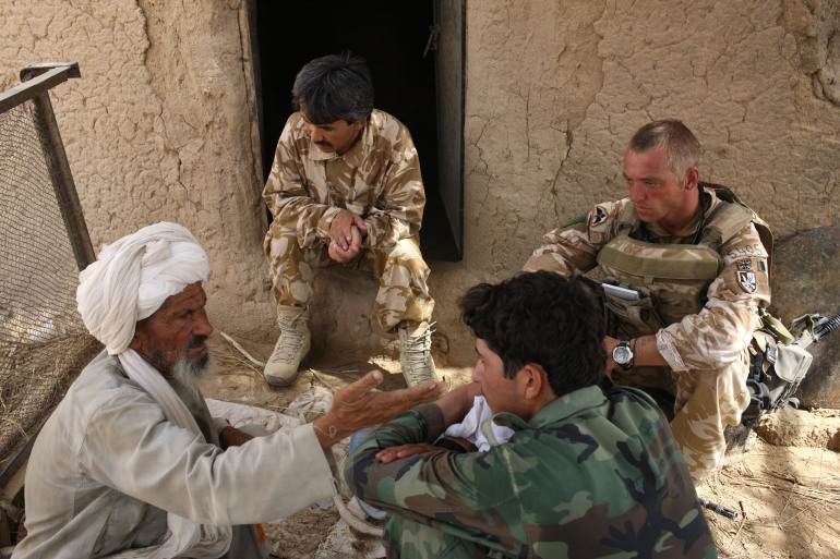 At the peak of the post-2001 deployment there were almost 10,000 British troops in Afghanistan, mostly in Helmand province [File: Marco Di Lauro/Reuters]