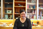 Mahuta was the first woman to display a moko kauae (sacred facial tattoo) in Parliament [Sasha Borissenko/Al Jazeera]