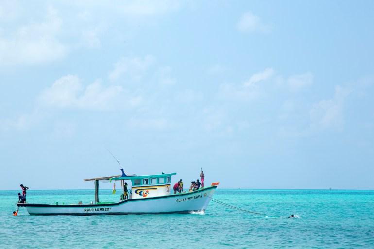 A view from Agathi Island, one of the 10 inhabited islands of the Lakshadweep archipelago [Biju Ibrahim/Al Jazeera]