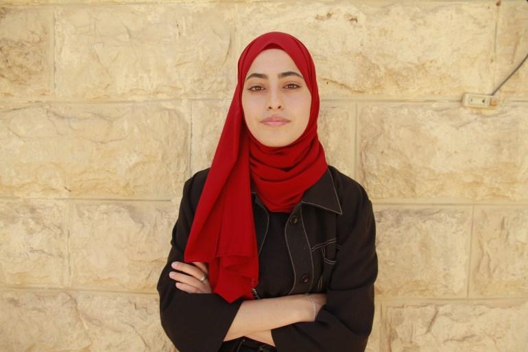 Muna al-Kurd, 23, has long been an advocate highlighting the plight of Sheikh Jarrah's residents [Ibrahim Husseini/Al Jazeera]