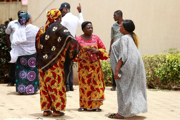 Parents of abducted students from the Federal College of Forestry Mechanization speak after a meeting in Kaduna, Nigeria [File: Afolabi Sotunde/Reuters]
