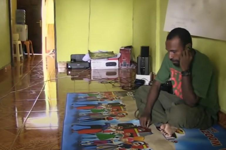 Victor Yeimo adalah juru bicara internasional Komite Nasional Papua Barat File Screen grab / Al Jazeera
