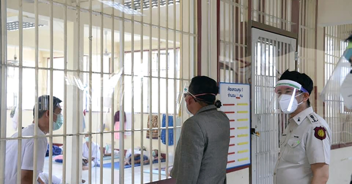 Thailand reports COVID daily record, driven by prison outbreaks