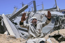 Who controls the media message on the Israel-Palestine conflict?