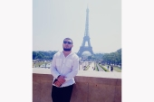 Magomed Gadaev pictured in Paris [Courtesy of the Gadaev family]