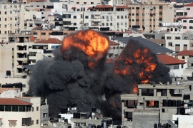 At least 122 Palestinians have lost their lives this week as Israel's assault on Gaza has intensified and at least six Israelis and one Indian national have also been killed in rocket attacks fired from Gaza into Israel [File: Mohammed Salem/Reuters]