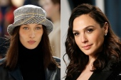 Bella Hadid (left) and Gal Gadot (right) are among celebrities who have been posting about the Israel-Palestine conflict [Reuters]