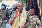 Colonel Sadio Camara, one of the officers sidelined in the reshuffle that provoked last month's coup, was reappointed as defence minister [File: Malik Konate/AFP]